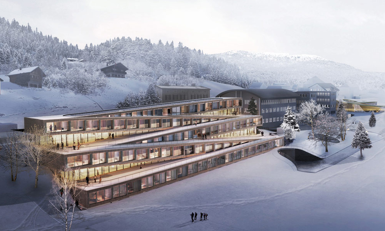 You Can Ski On This Hotel